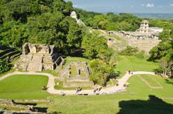 Eshhe odin arheologicheskij kompleks raspolagaetsja vblizi goroda Palenke - Zona Arqueológica de Palenque. Po idee, zdes' dolzhno bylo byt' men'she turistov, tak kak do Kankuna daleko.