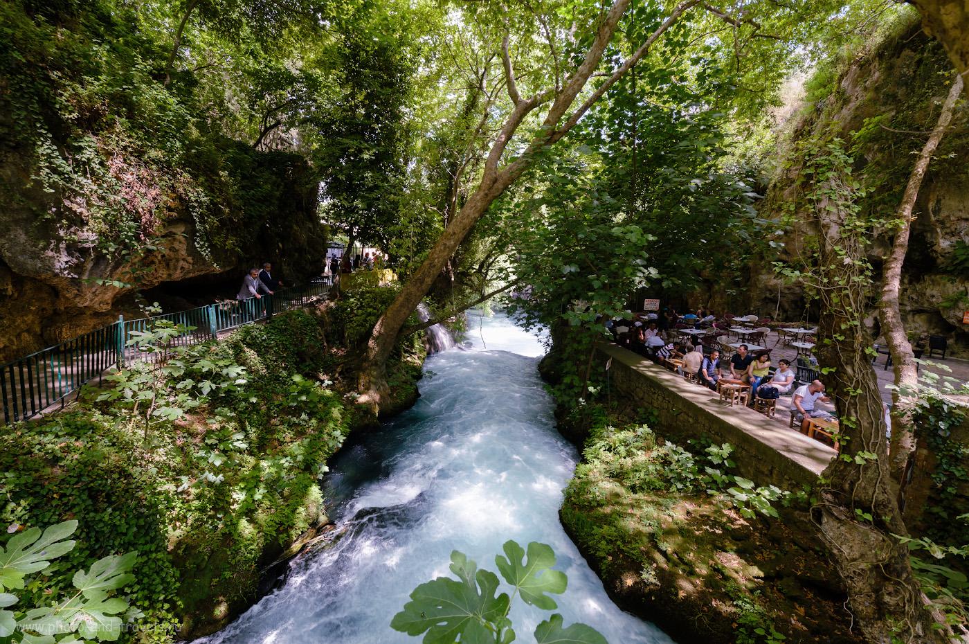 Фото 15. Река Дюден в парке Düden Şelalesi. Рассказы туристов об экскурсиях в Анталии. Интересные достопримечательности, что можно посмотреть во время отдыха в Турции. 1/50, 8.0, 250, -0.33, 14.