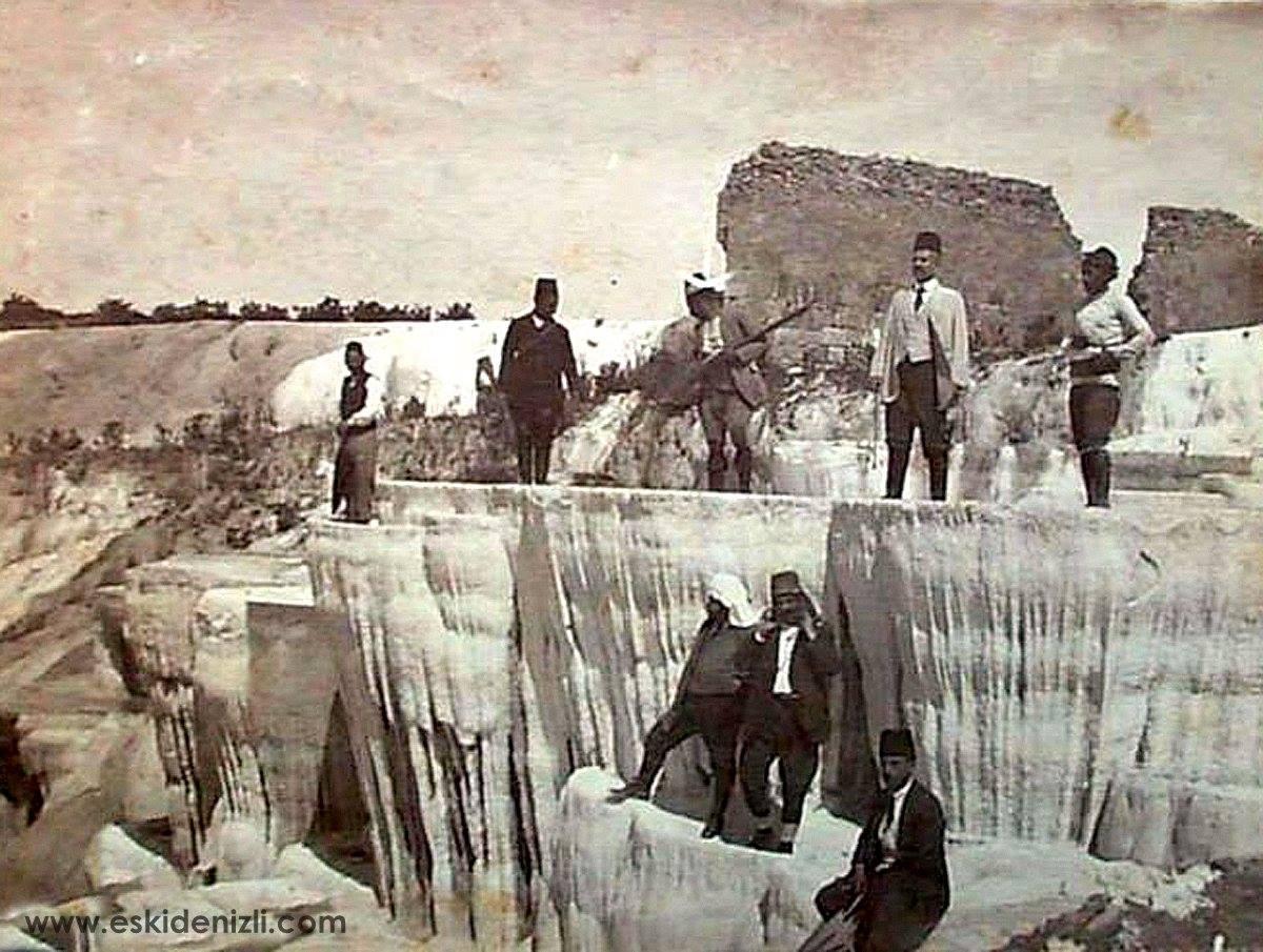 Фото 38. Исторические снимки Иераполиса и травертиновых террас Денизли.