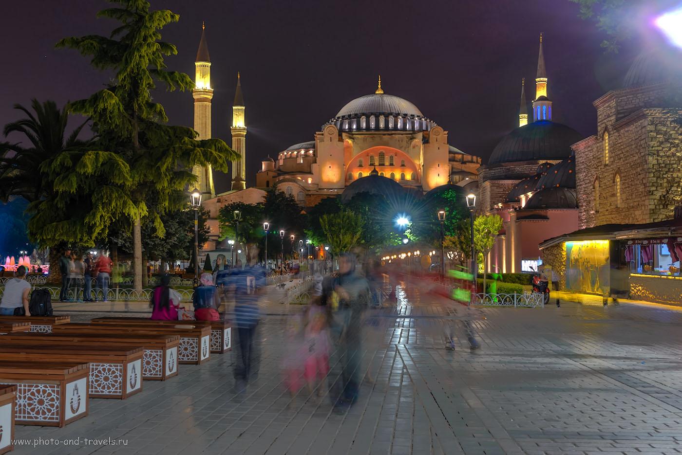 Фото 2. Софийский собор (Айя-София) в Стамбуле. Поездка в Турцию. Отзывы туристов о самостоятельной экскурсии. HDR из 3-х кадров. Снято со штатива Sirui T-2204X с головкой G20-KX. Камера Nikon D610, объектив Nikon 24-70mm f/2.8.