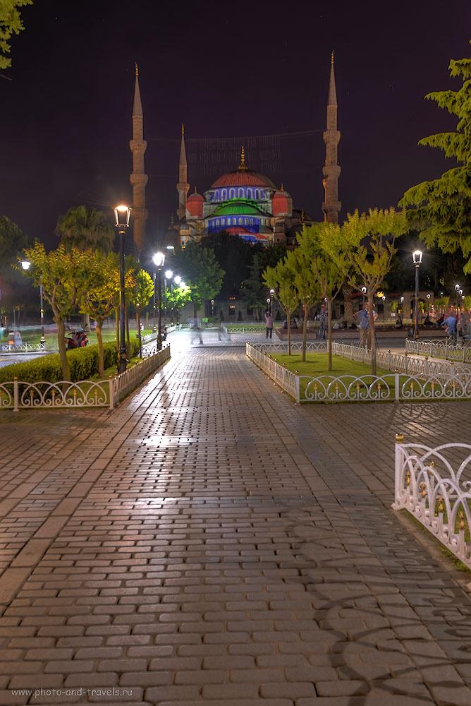 Фотография 83. Голубая мечеть – самый известный мусульманский храм Стамбула. Поездка в Турцию самостоятельно. HDR.