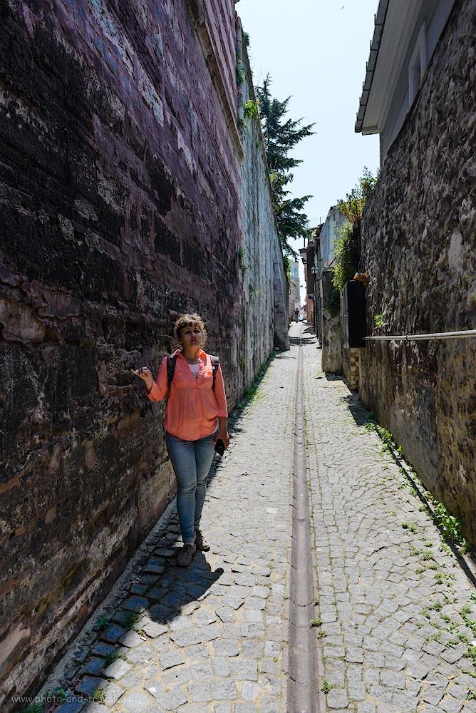 Фото 16. Древние стены Стамбула. Туристы в Турции. 1/500, -1.0, 8.0, 24.