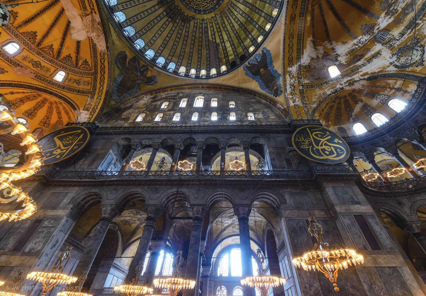 Фотография 20. Интерьеры Айя-Софии. Экскурсии в Стамбуле. 1/40, 0.33, 5.6, 2500, 14.