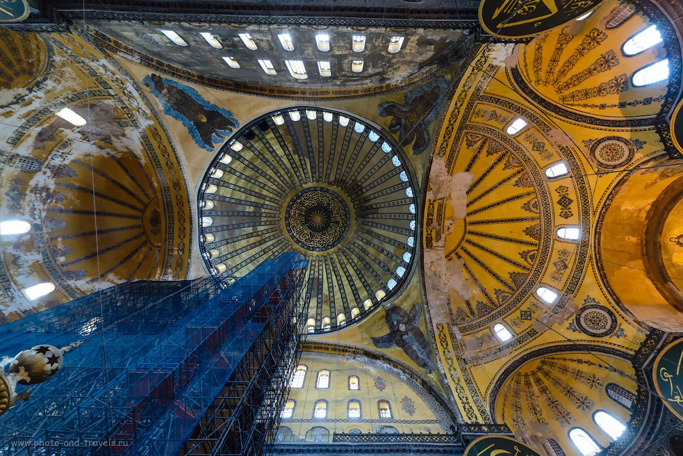 Фотография 21. Купол собора Айя-София в Стамбуле. Отчет о поездке в Турцию самостоятельно. 1/25, 5.6, 2500, 14.