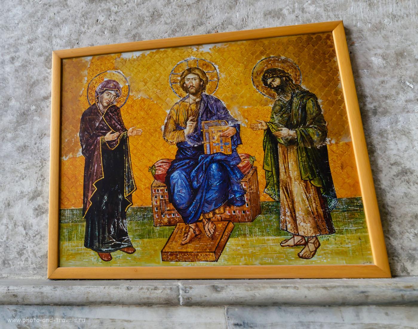 Фотография 28. Так выглядела мозаика «Деисус» в момент создания в 1261 году. Отзыв об экскурсии в собор Айя-София в Стамбуле. Интересные достопримечательности города. Стоит ли ехать отдыхать в Турцию. 1/30, 5.6, 640, 14.