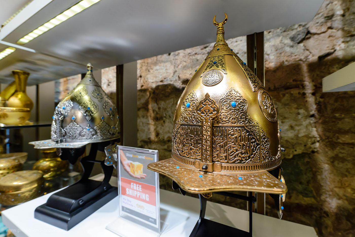 Фотография 33. Возможно, такие шлемы одевали воины, штурмовавшие стены Константинополя в 1453 году. Отзывы об экскурсии в собор Айя-София в Стамбуле. Поездка в Турцию дикарями. 1/400, 5.6, 2500, 14.