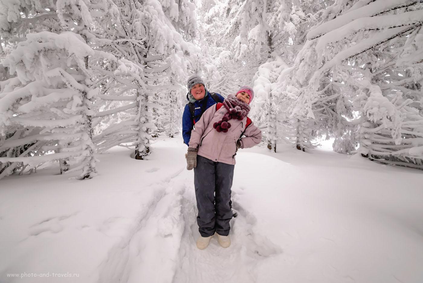 Фото 12. Привет из зимней сказки. Как мы поднимались на хребет Зюраткуль. Фотоаппарат Никон Д610, объектив Самъянг 14мм f/2.8. Параметры съемки: 1/160, +0.67, 2.8, 250, 14.