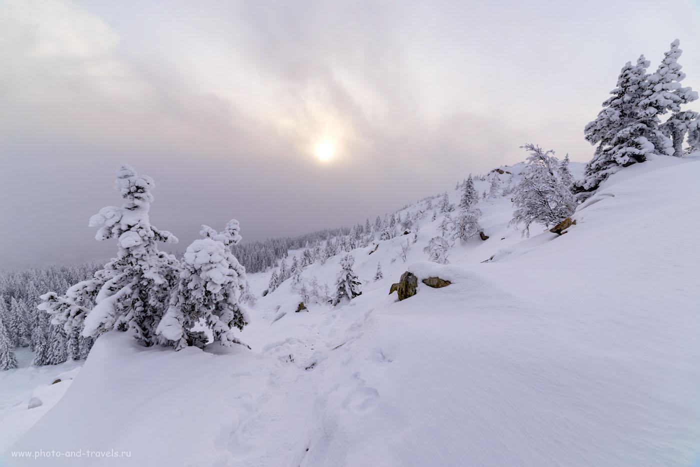 Фото 18. Зимняя тундра в горах Челябинской области. 1/160, +0.33, 8.0, 140, 14.