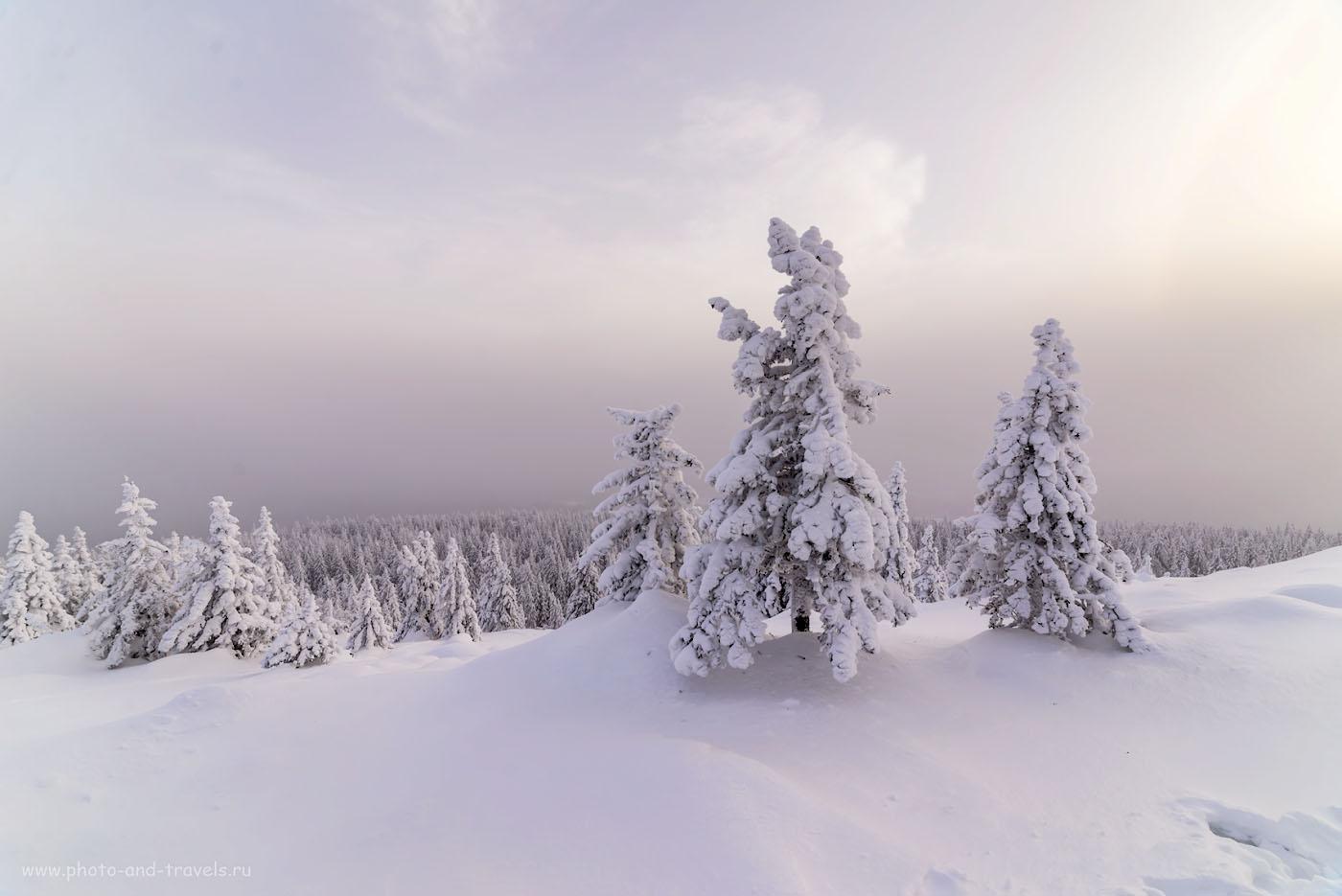 Фотография 21. Зимние пейзажи в национальном парке Зюраткуль Челябинской области. 1/160, 0.67, 8.0, 180, 14.