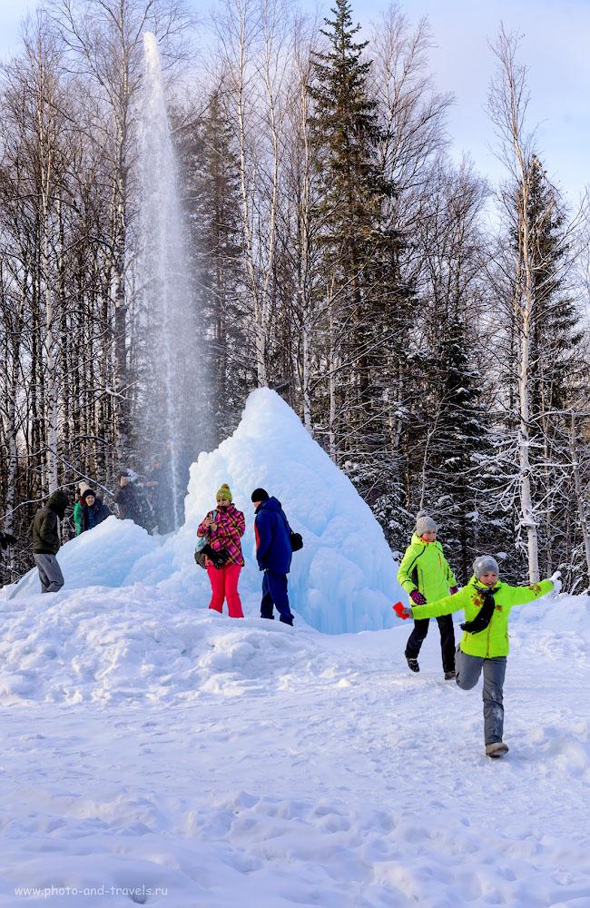 Фото 33. Ледяной фонтан в национальном парке Зюраткуль. 1/320, +0.67, 8.0, 360, 56.