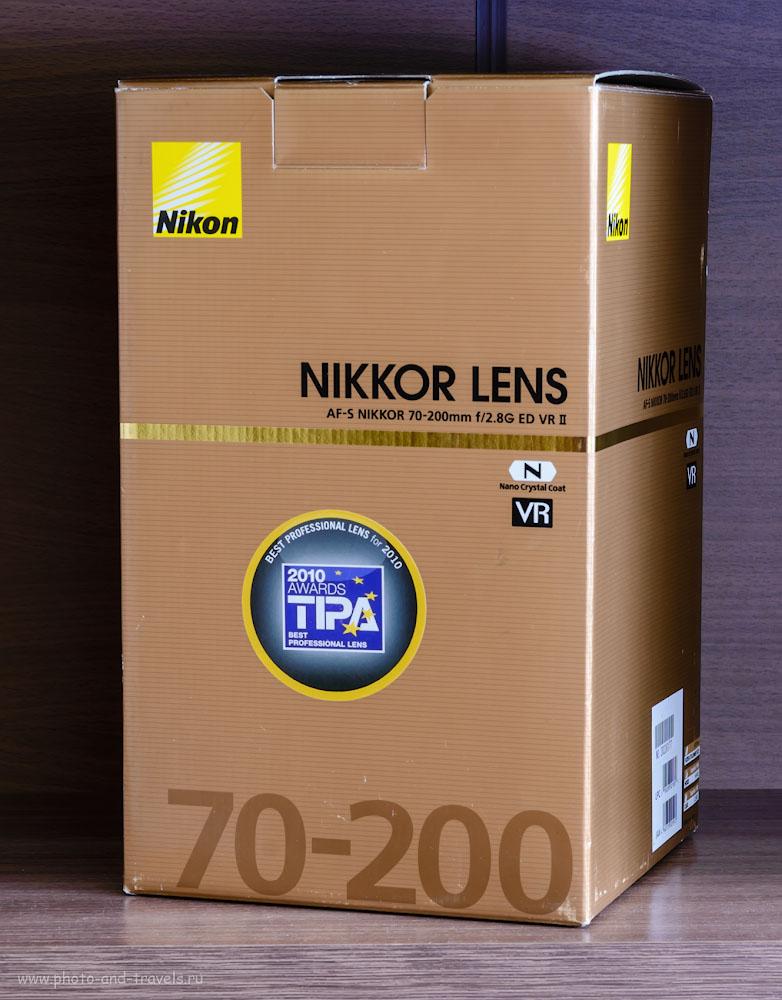 Светосильный телеобъектив NIKON AF-S VR 70-200 mm f/2.8 G IF-ED II.