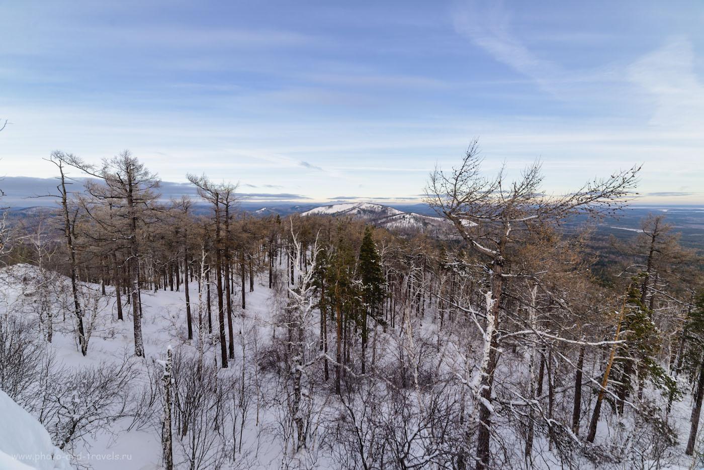 Фото 12. Вид с вершины Сугомака на Егозу. 1/100, -0.67, 8.0, 100, 14.