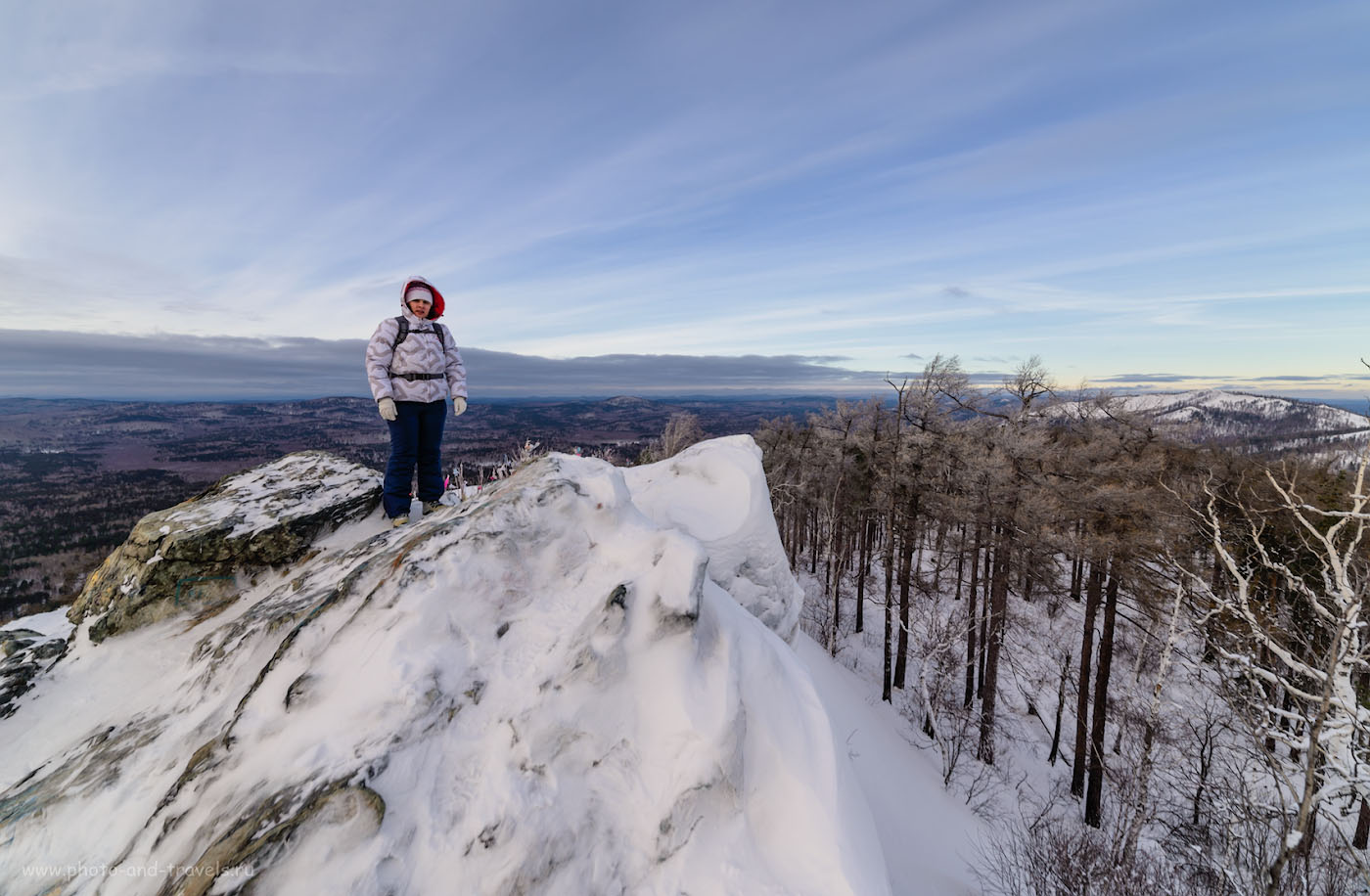 Фотография 11. На вершине горы Сугомак. Отчет о зимнем походе выходного дня по Уралу. 1/200, -0.67, 8.0, 100, 14.