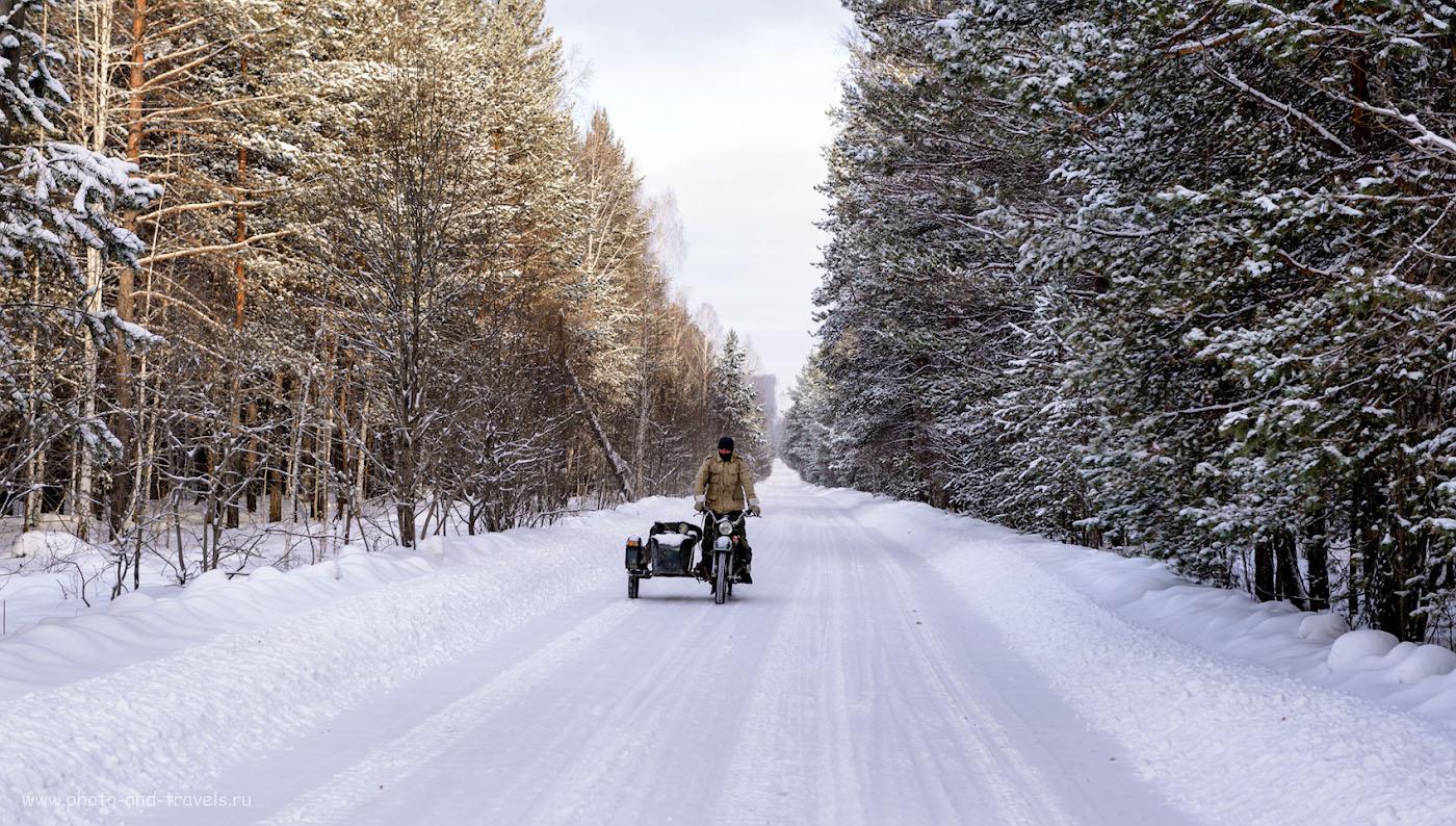 Фотография 2. Экстремальное вождение зимой. Отзыв о поездке на экскурсию в оленью ферму, что в окрестностях Верхнего Уфалея. 1/160, +0.67, 5.0, 100, 70.