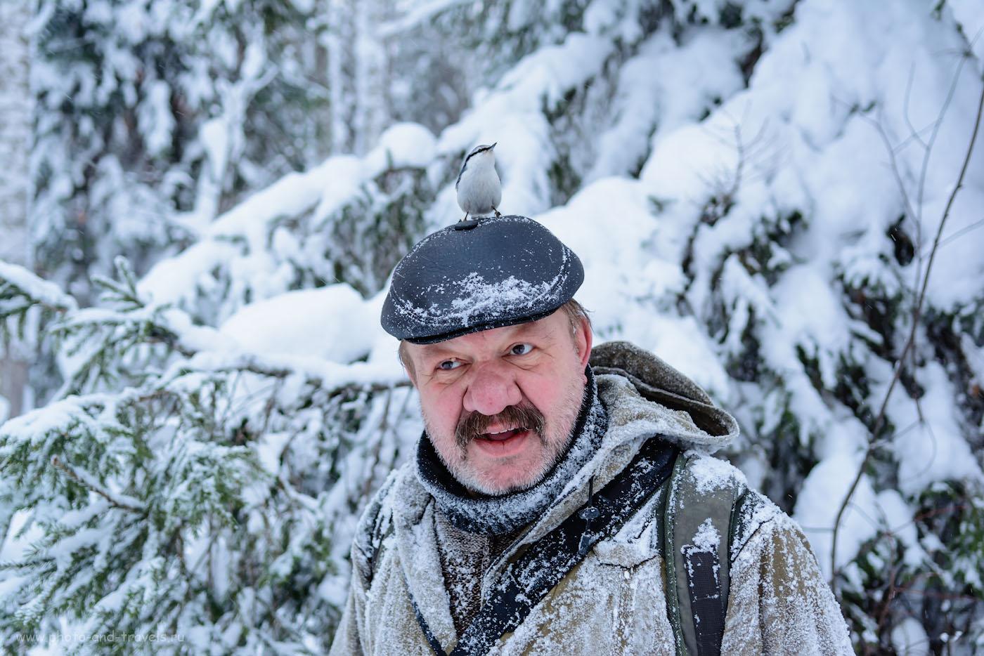 Фотография 27. Неожиданный случай в лесу. Портретная съемка. 1/100, +0.67, 2.8, 360, 31.