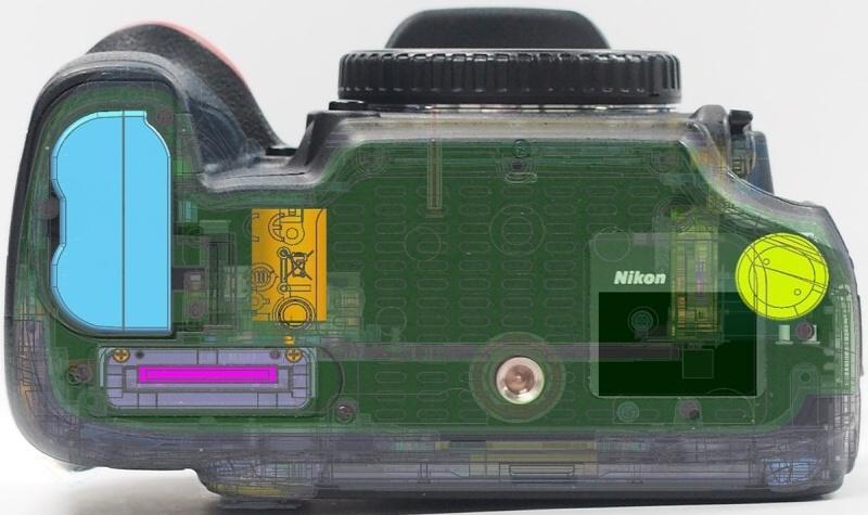 8. А так располагается батарейка в Nikon D610