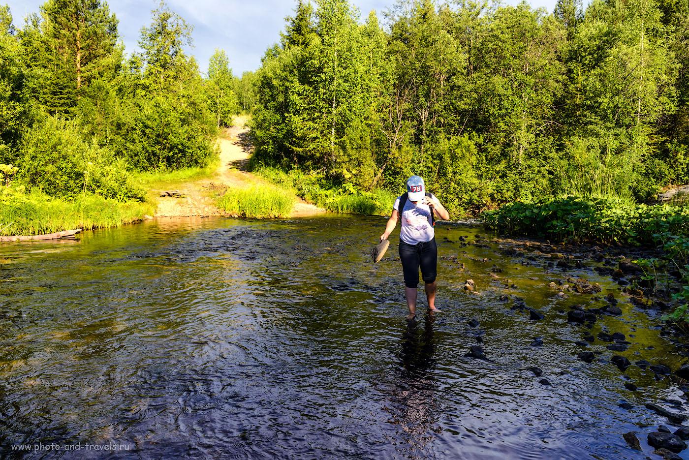 Фото 17. Чтобы добраться до озера Бездонное, придется пройти вброд. 1/400, -1.0, 8.0, 320, 28.