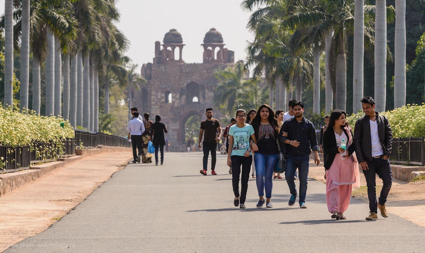 Фотография 2. Парк на территории крепости Пурана-Кила. Отзывы туристов об экскурсиях в Дели. Камера Nikon D610 + Nikon 70-200 + TC-14E II. Настройки: 1/320, -0.33, 8.0, 140, 150.