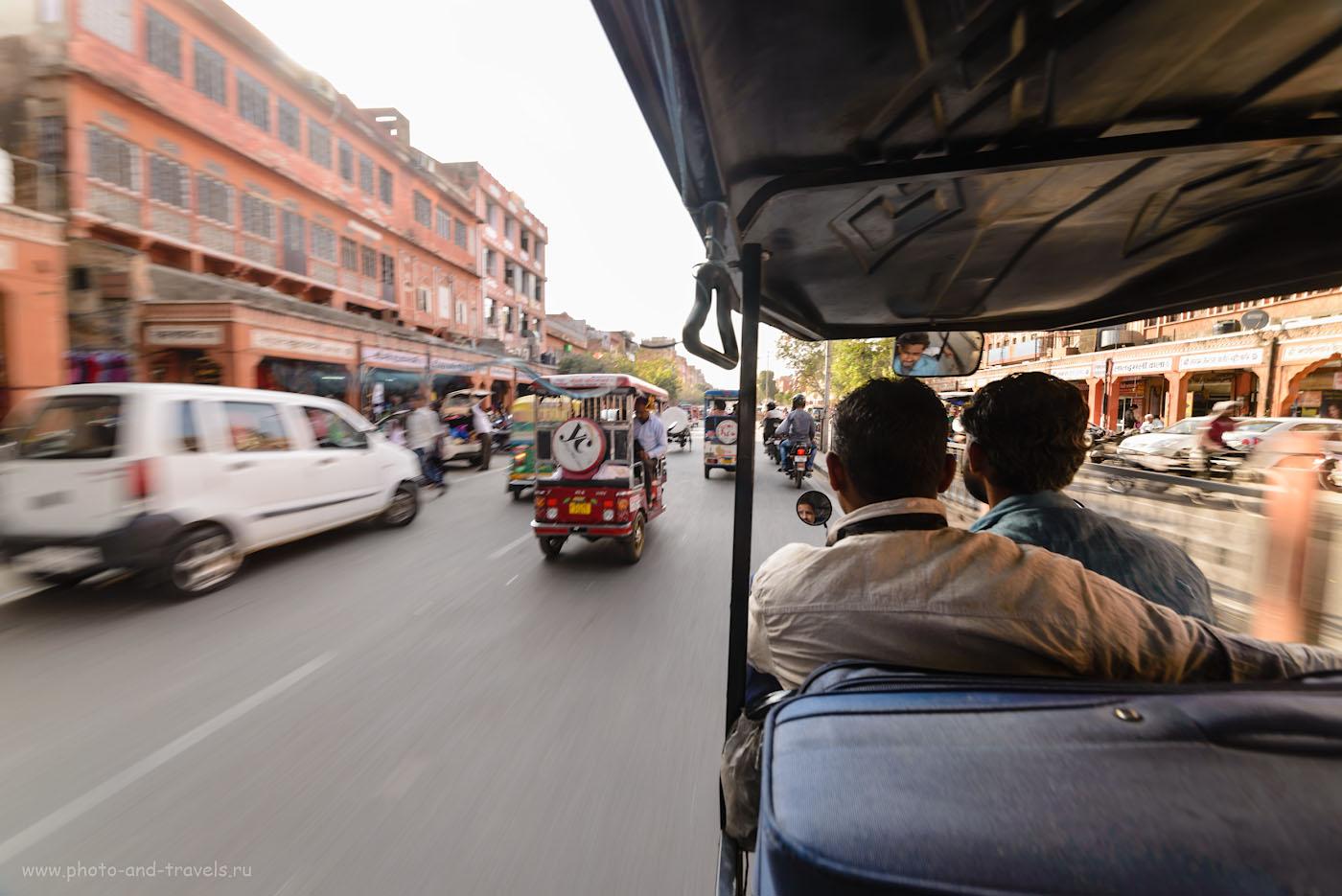 Фото 25. Поездка по улицам Джайпура, называемого «Розовым городом» - то еще приключение. Фотоаппарат Никон Д610 и ширик Самъянг 14мм f/2.8. Настройки: 1/30, 9.0, 100,14.
