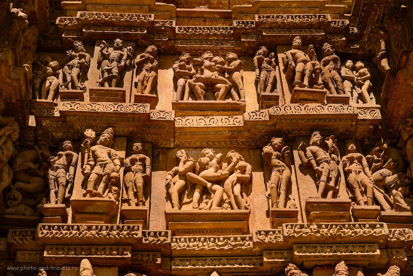 Фото 14. Сценки из «Камасутры» на стенах храма Кхаджурахо. Отзывы об отдыхе в Индии дикарями. 1/250, 8.0, 100, 58.