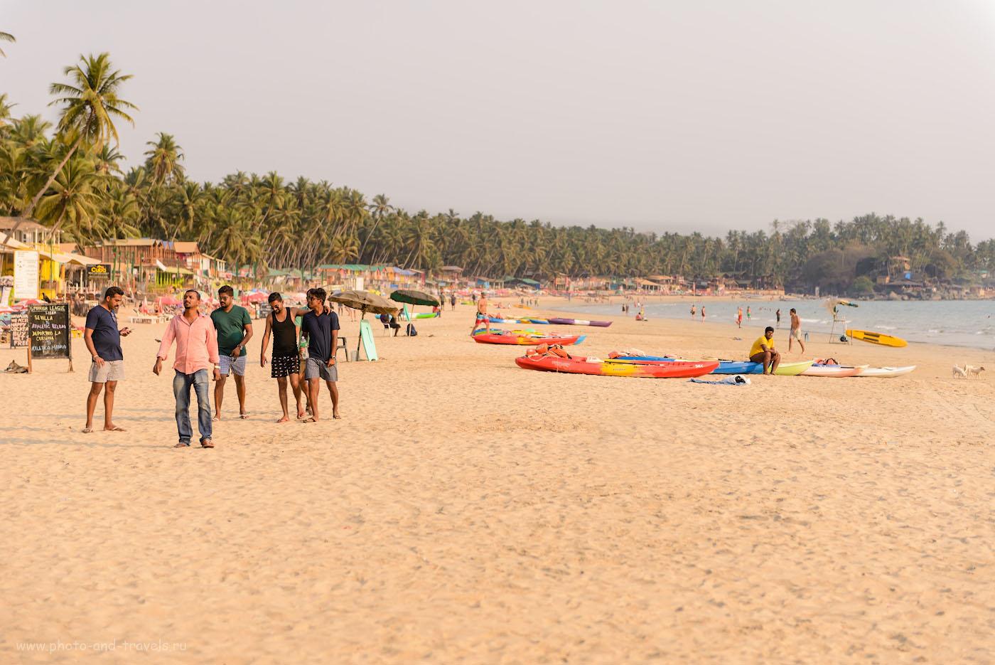 Изображение 28. Отзывы туристов об отдыхе на пляже Палолем в Южном Гоа. Индия в марте. Камера Nikon D610 + телеобъектив Nikon 70-200mm f/2.8 безе экстендера. Параметры: 1/1250, 0.67, 2.8, 100, 70.