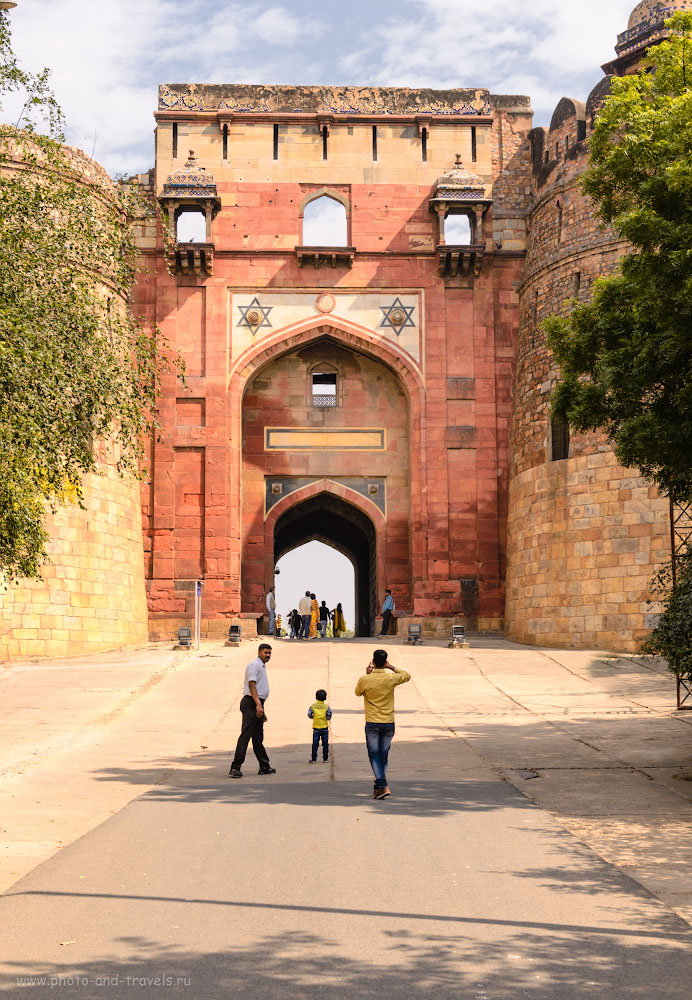 Фото 4. Западные ворота крепости Пурана-Кила. Отзывы об экскурсиях по Дели самостоятельно. 1/200, +0.33, 8.0, 100, 45.