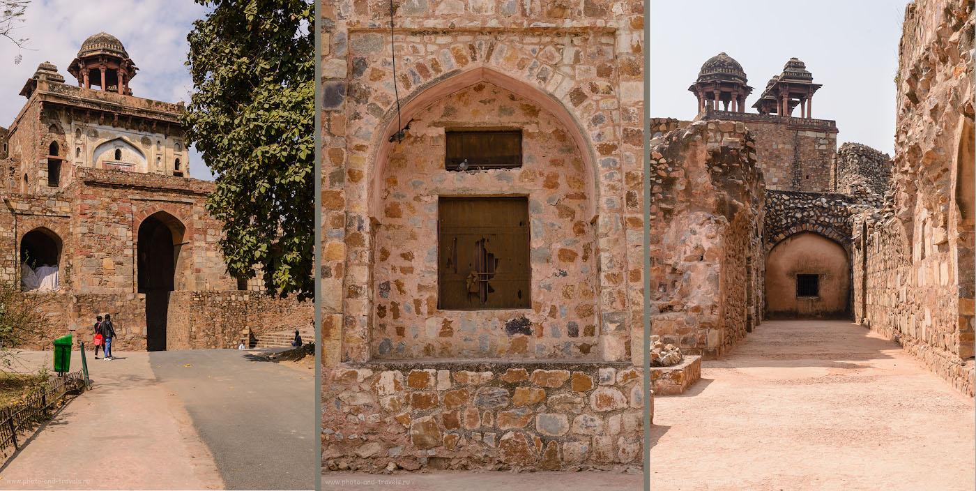 Фото 6. Северные ворота и внутренняя территория крепости. Дели называют Столицей семи Империй, а Пурана-Кила – столица шестой из них.