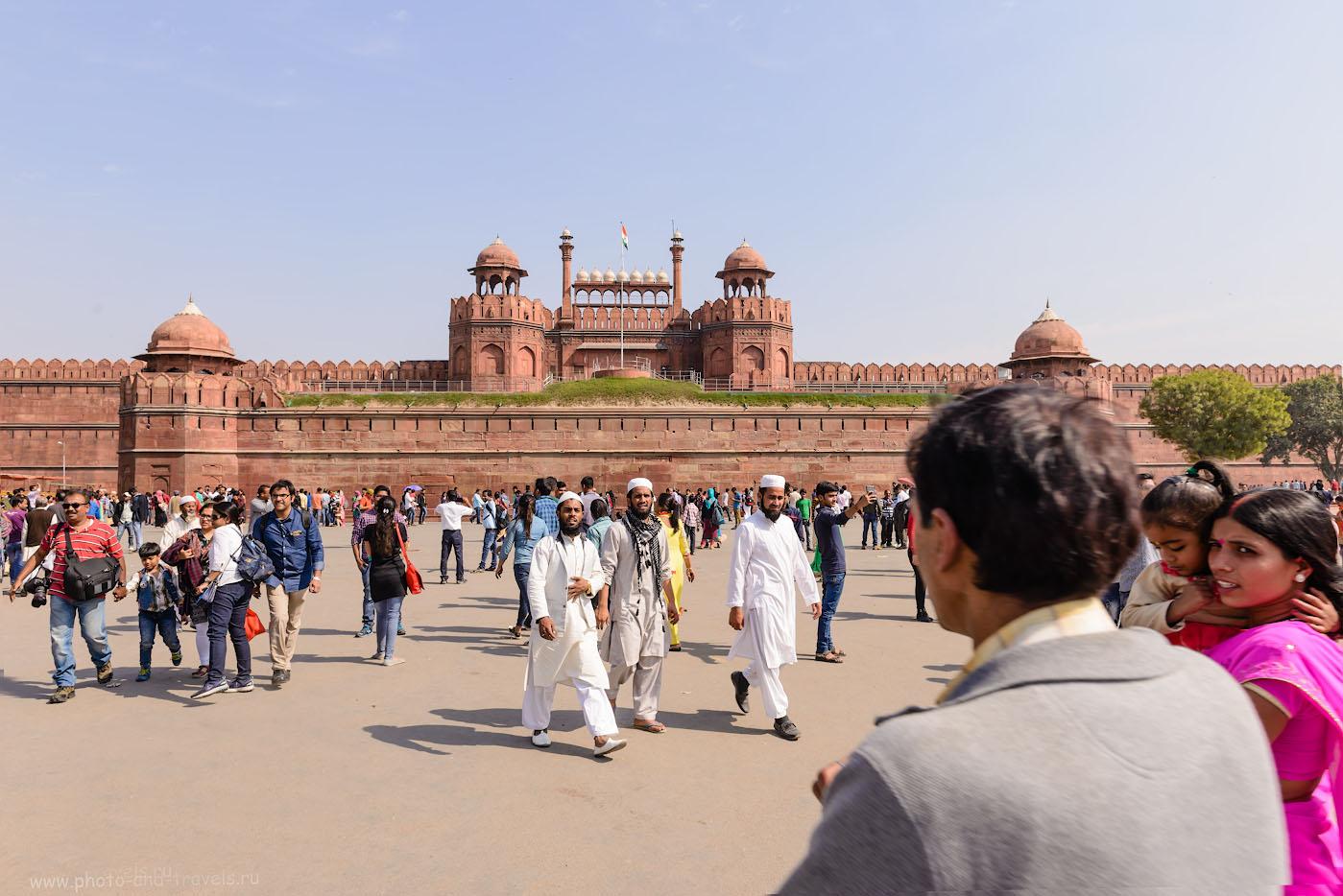 Фотография 13. Красный форт – визитная карточка Дели. Лахорские ворота. Отзывы туристов о самостоятельных экскурсиях. 1/200, 9.0, 100, 24.