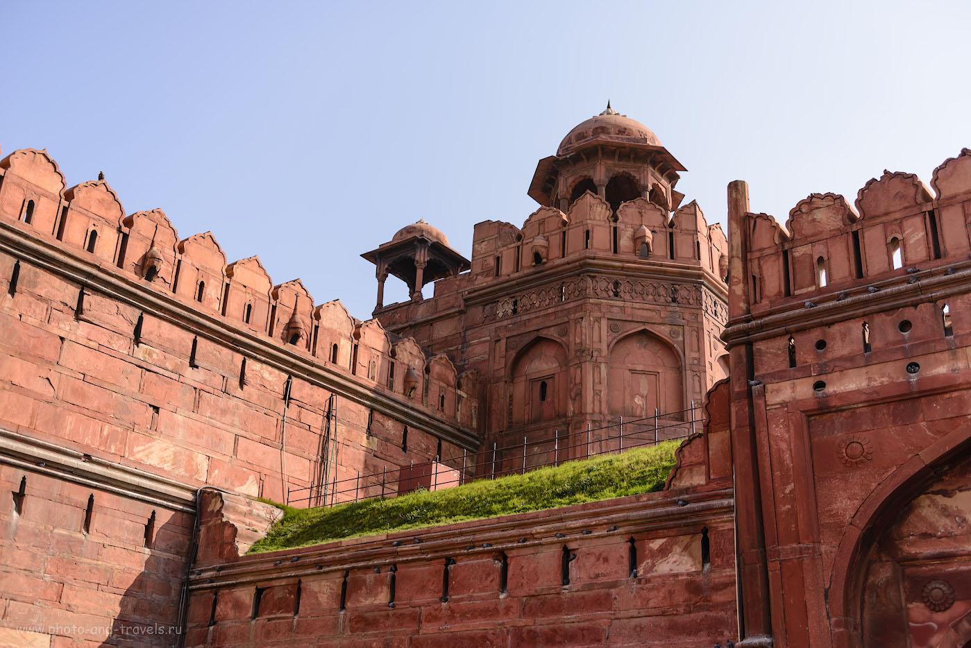 Фотография 23. Архитектура Красного форта необычайно красива. Поездка в Индию самостоятельно. 1/1000, -0.67, 3.2, 100, 38.