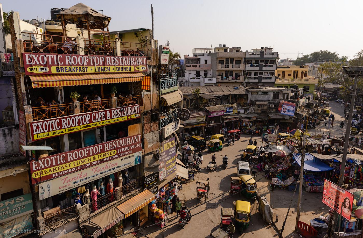 Фотография 30. Где покушать на Мэйн-Базаре? Рекомендую в кафе «Exotic Roof TopRestaurant». Отзывы о самостоятельной поездке в Дели. 1/250, -1.0, 9.0, 100, 24.