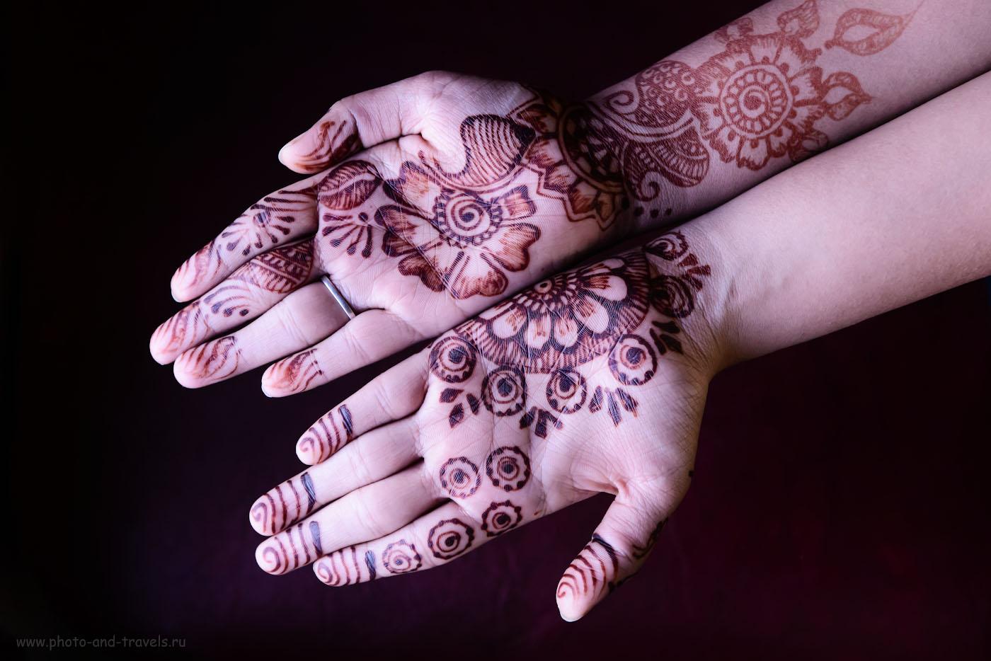 Снимок 39. Менди – так называется рисунок на руках хной в Индии. Отзывы об отдыхе в феврале. 1/160, 5.0, 6400, 60.