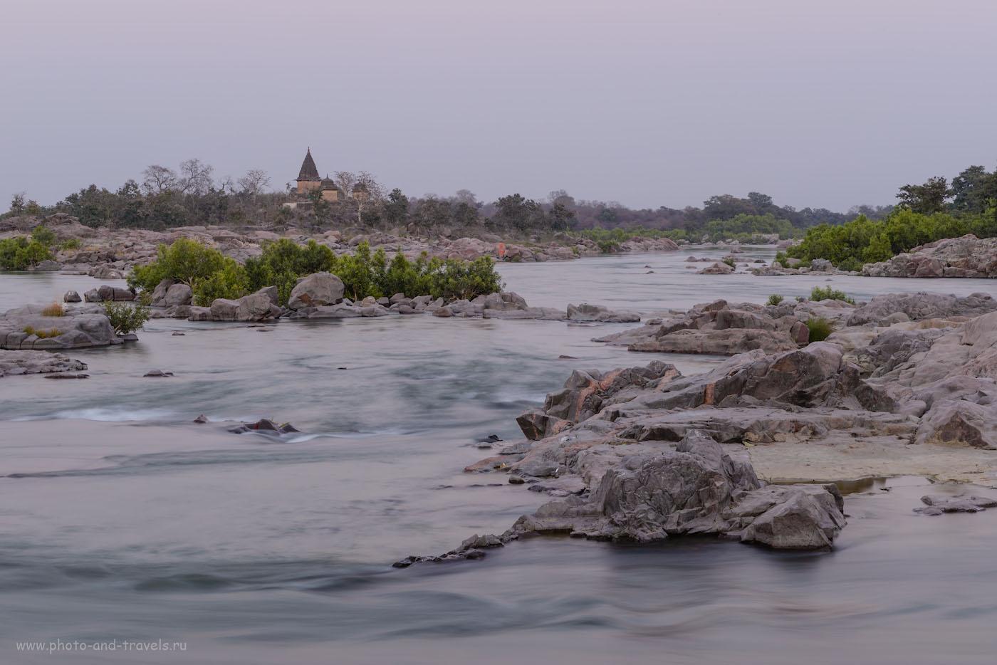 Фотография 7. Река Бетва. Отзывы о чудесной экскурсии в город Орчха в Центральной Индии. Камера Nikon D610, объектив Nikon 70-200mm f/2.8. Настройки: 1/20, 10.0, 100, 105.