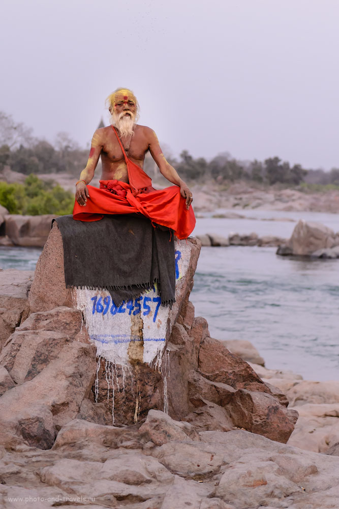 Фото 8. Путешествуя по Индии, будьте готовы платить тем садху, кто позирует за деньги. 1/80, +0.67, 2.8, 2000, 70.