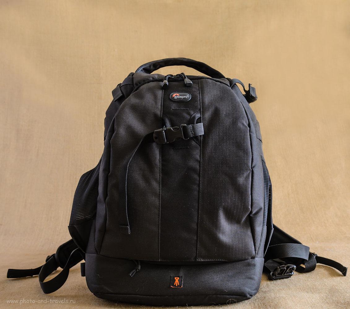 Фотография 4. Внешний вид фоторюкзака Lowepro Flipside 400 AW черного цвета.