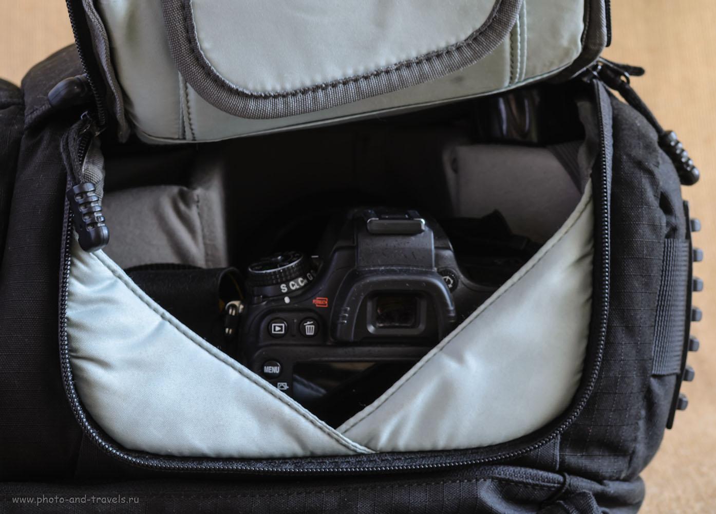 Фото 12. Удобство данной модели фоторюкзака AinoGirl A2163 – быстрый доступ к фотокамере сбоку.