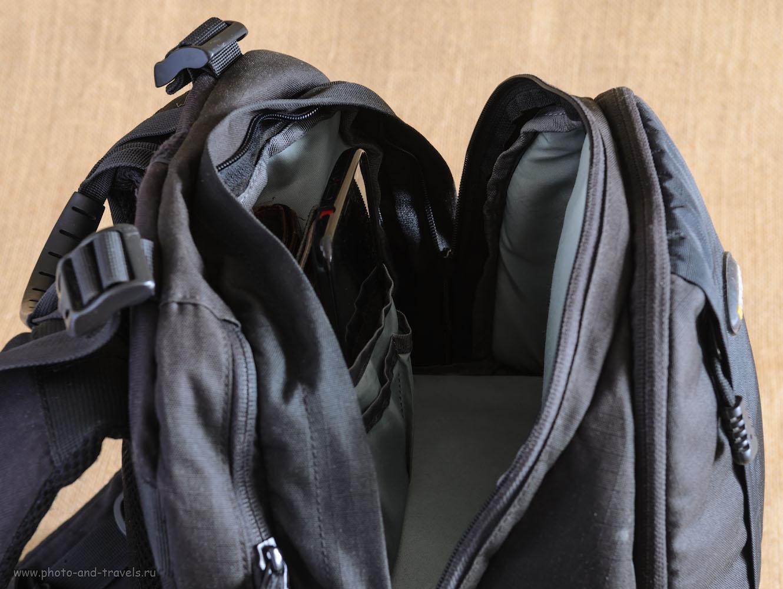 Фото 14. Хорошо, если ваш фоторюкзак имеет отсек для личных вещей фотолюбителя.