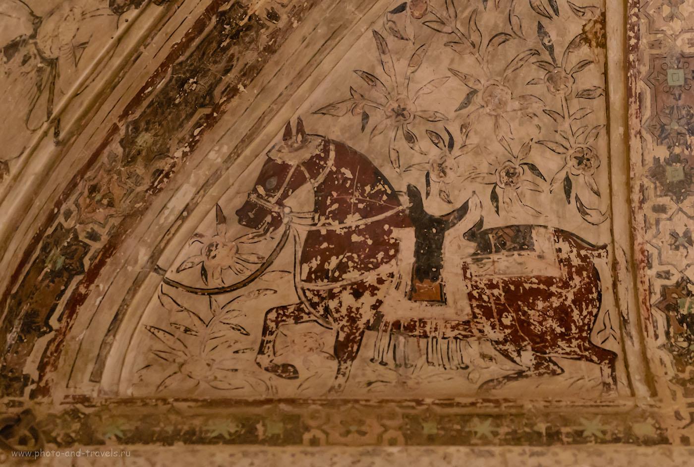 Фото 6. Фрески во дворце в Орчхе.