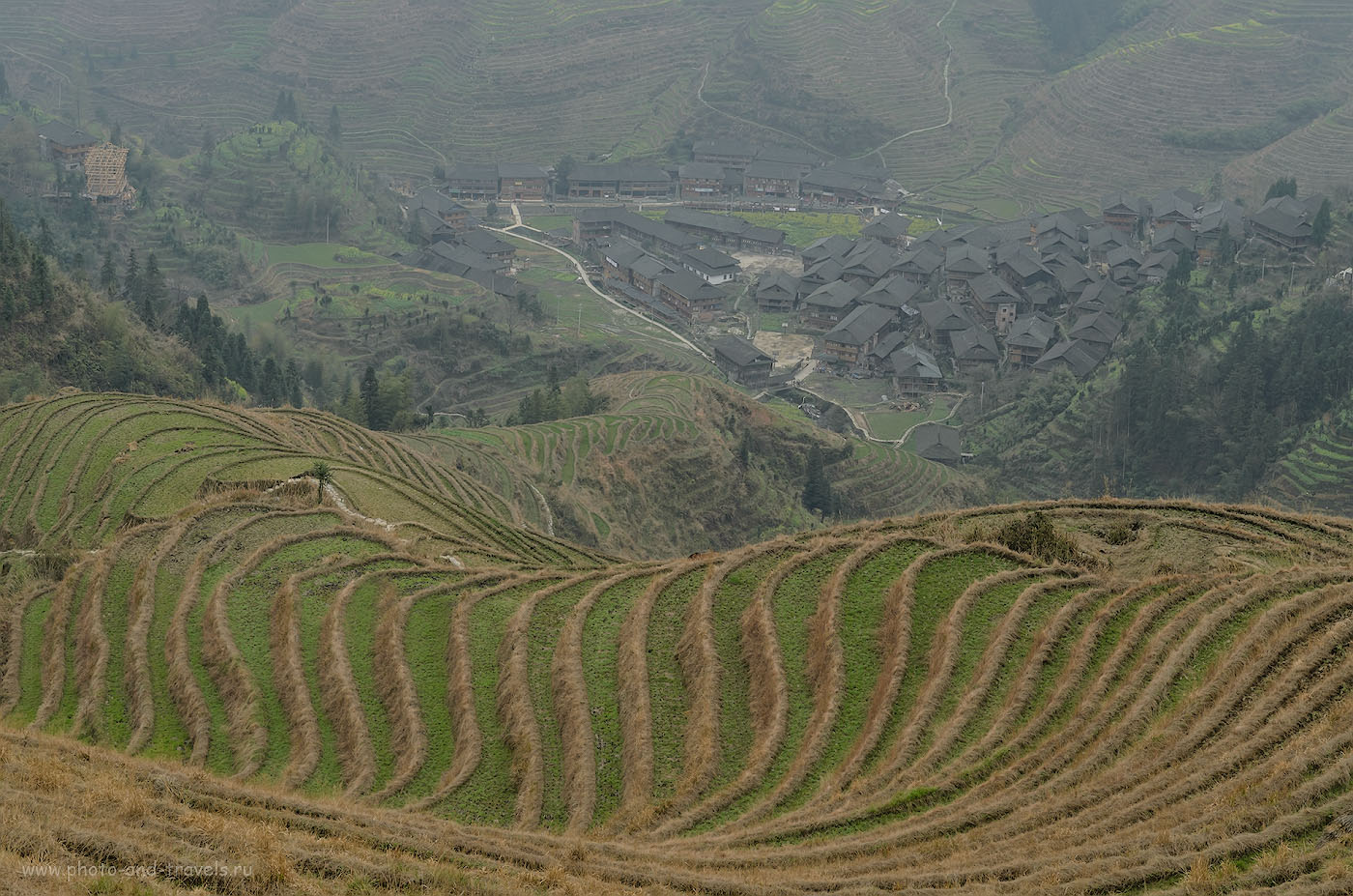 Фото 12. Поездка на экскурсию к рисовым террасам в Китае. Вот он - Хребет Дракона, что по-китайски значит Longji Rice Terraces