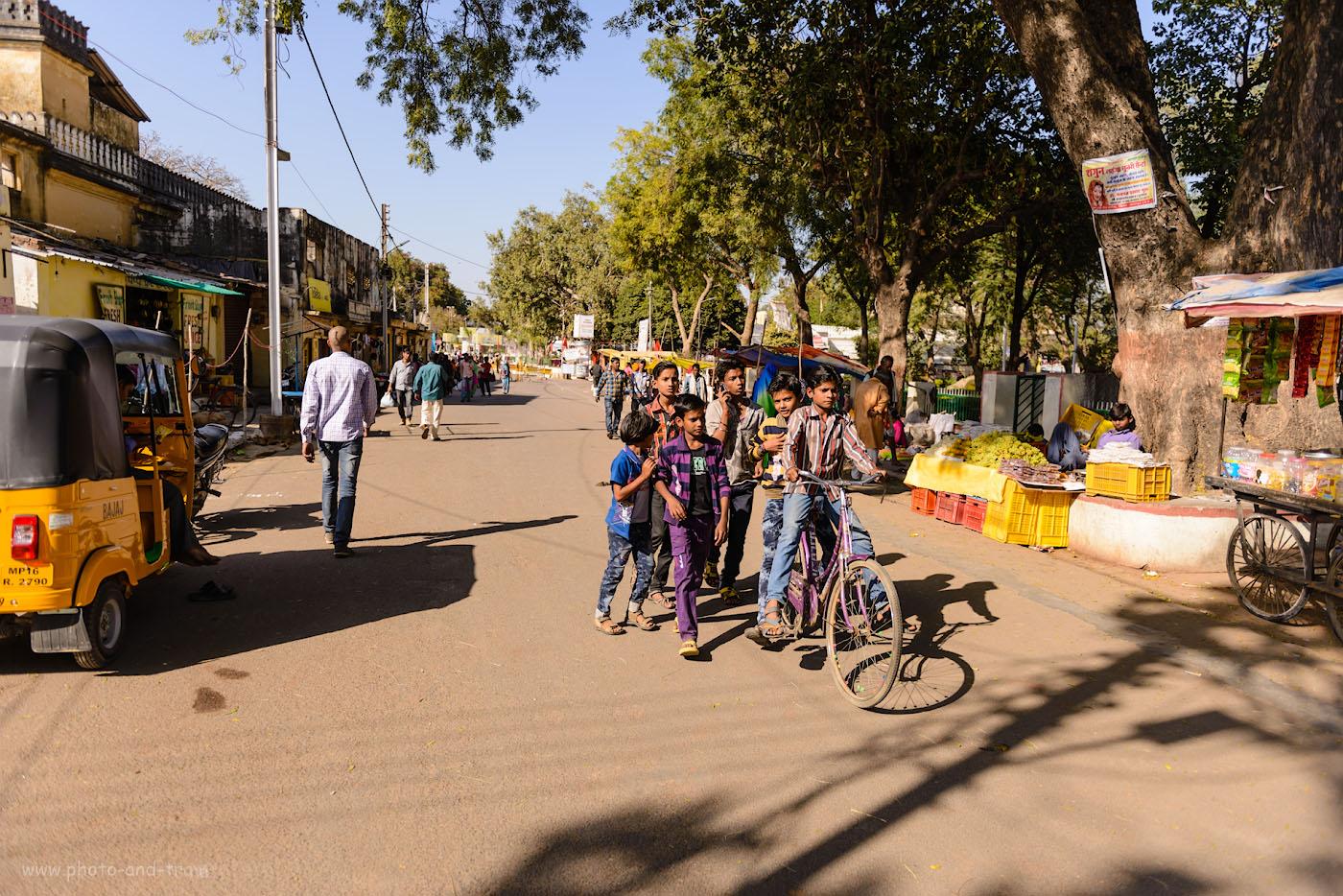Фотография 16. Сценки из уличной жизни индийской глубинки. Прогулка по Кхаджурахо. 1/1600, 2.8, 100, 24.