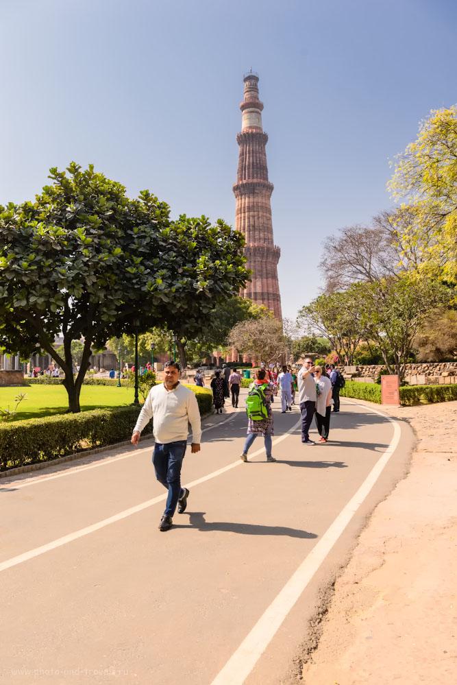Фото 1. Знаменитый минарет Кутб-Минар в Дели. Отзывы о самостоятельной экскурсии по столице.