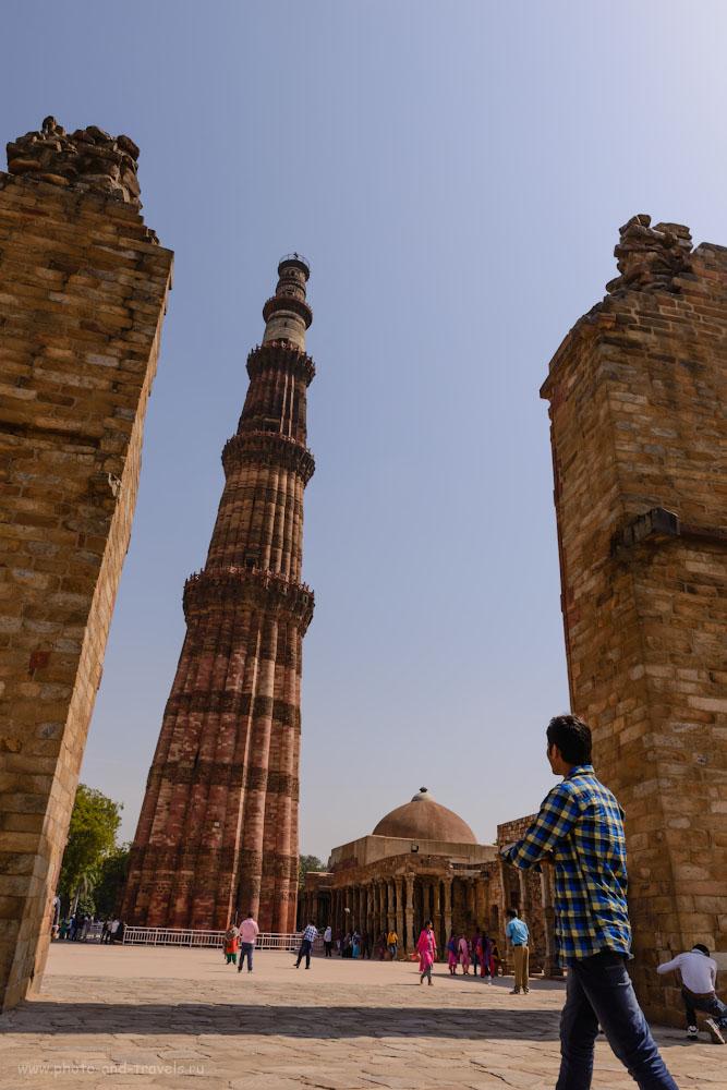 Фотография 26. Минарет Кутб-Минар – знаковое сооружение Дели. Экскурсия по столице Индии за полдня.
