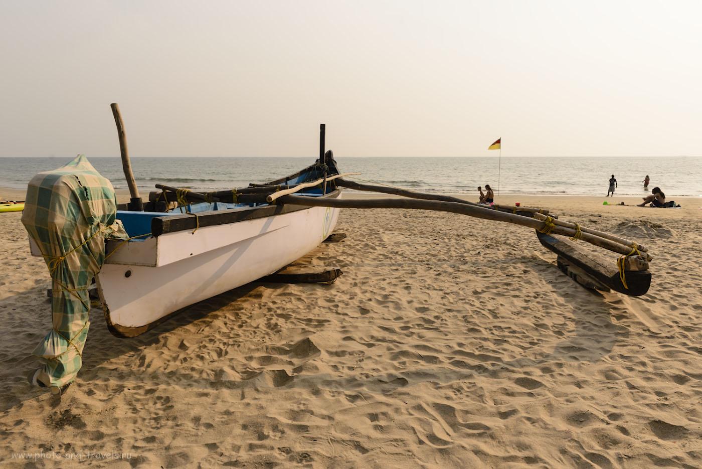 Фото 34. Вечер на пляже Палолем в Южном Гоа. Отзывы туристов об отдыхе в Индии. 1/320, -0.33, 9.0, 100, 24.