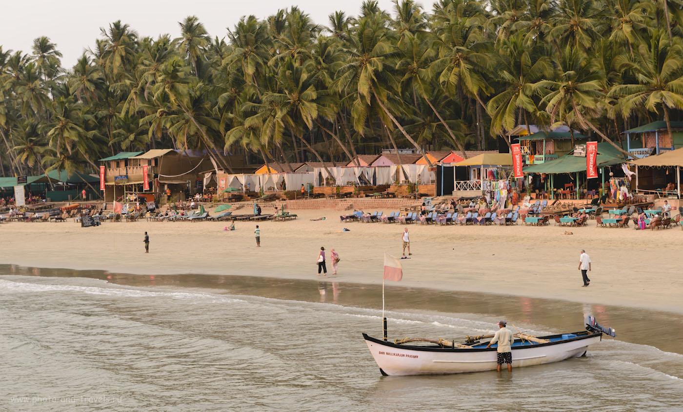 Фото 7. Рыбак на пляже Палолем. Индия. Южный Гоа. 1/130, +0.33, 8.0, 160, 70.