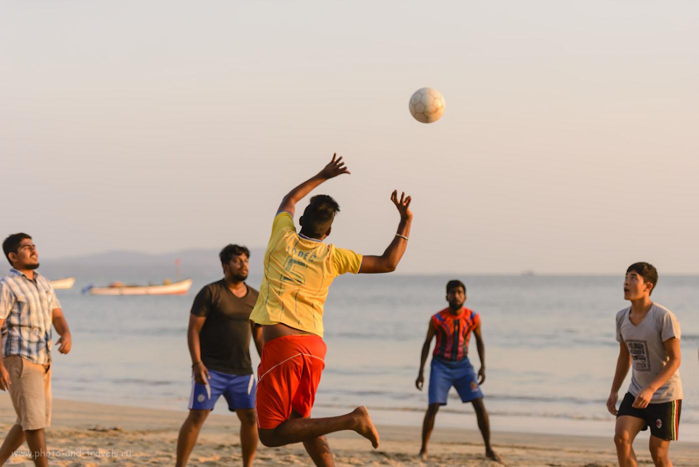 Фотография 19. Пляжный волейбол на Палолеме. Отзывы об отдыхе на Южном Гоа в марте. 1/1600, 0.67, 2.8, 640, 82.