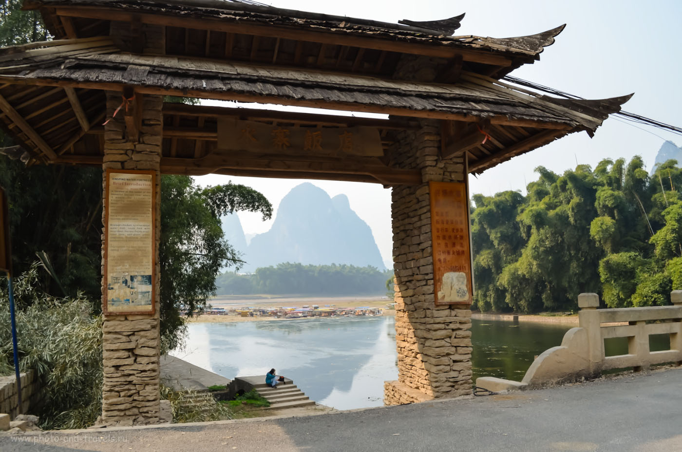 Фотография 10. Путешествие по Китаю самостоятельно. Подходим к речной пристани в Синьпине на реке Ли. Отсюда начинается сплав на плотах. 1/250, 8.0, 160, 18.