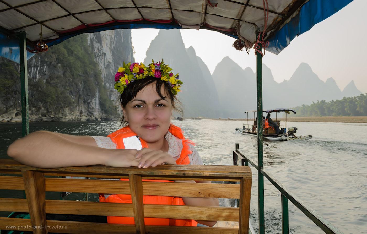 12. Отдых в Китае. Поездка в Яншо. Красотка среди красот реки Лицзян. 1/200, 6.3, 100, 18.