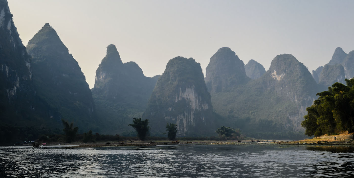 15. Думаю, если бы я поехал в Яншо во второй раз, отправился бы на сплав по реке Лицзян рано утром, чтобы снять всю эту красоту в режимное время. Фотографии были бы приятнее. 1/125, 11.0, 110, 28.