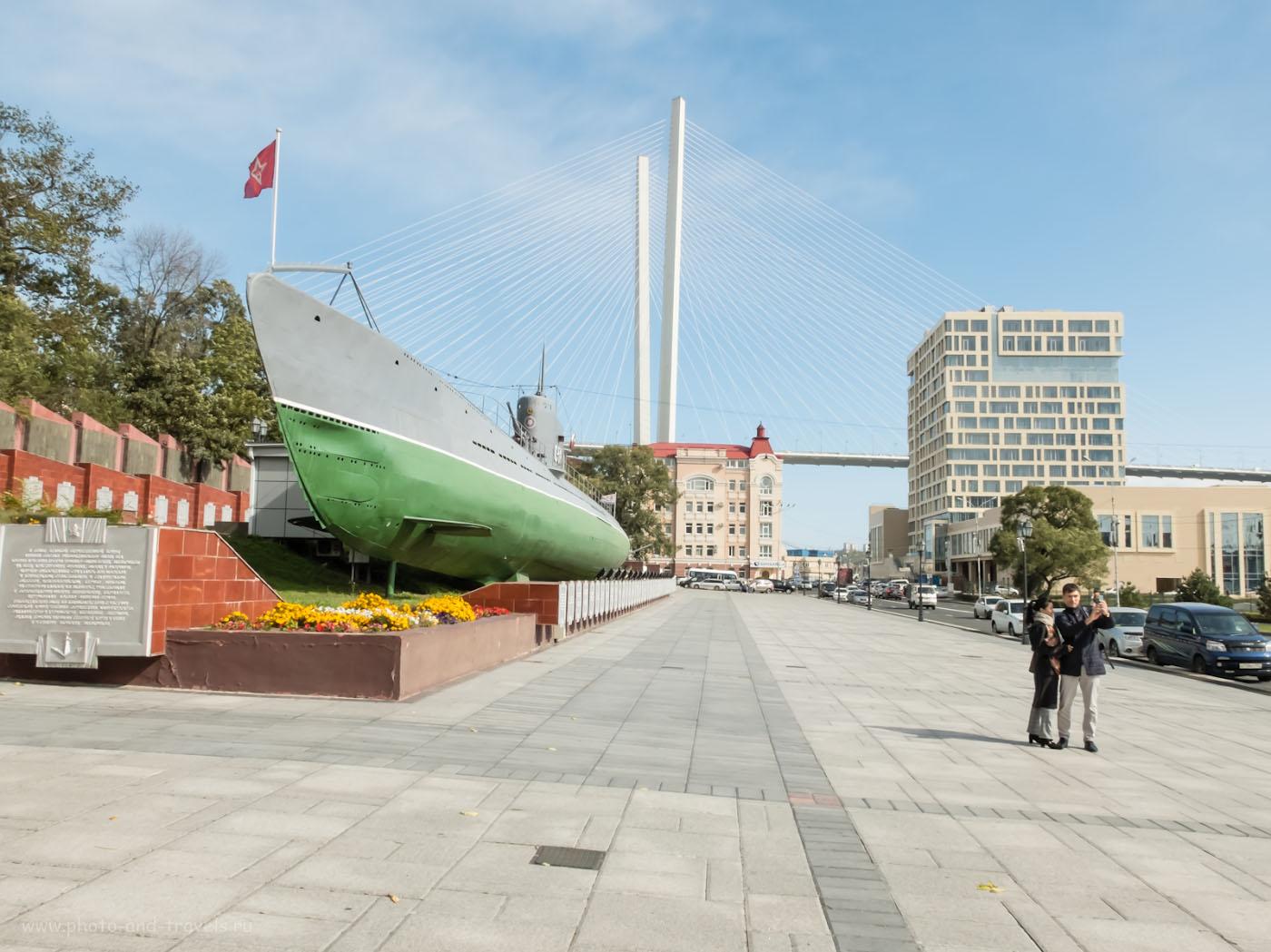 Фото 17. Мемориальная гвардейская подводная лодка С-56. Фотопрогулка по Владивостоку. Снято на мыльницу Fujifilm X30. Настройки: 1/300, +0.67, 8.0, 200, 7.1.