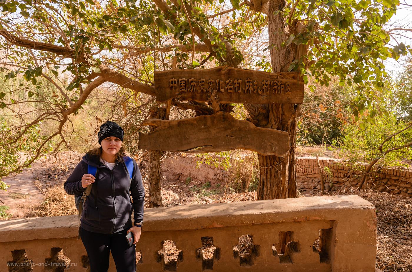 Фотография 2. Наверное, здесь написано, что Туюк-Мазар – древняя, почитаемая мусульманами святыня Китая. 1/60, +0.67, 8.0, 100, 24.
