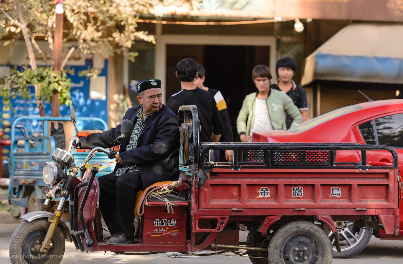 Фотография 26. Обычная жизнь уйгурского городка. Отзыв о поездке в Турфан из Урумчи. 1/400, -1.33, 2.8, 280, 165.